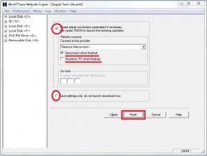 adjust-connection-parameters-for-HTTrack-website-copier