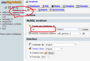 create-database-stl-in-wamp-server