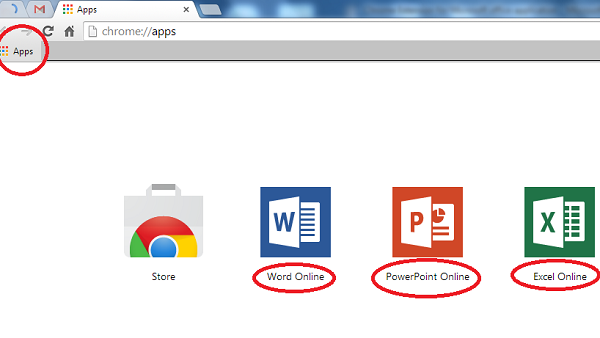 3 most useful Microsoft office applications in Google Chrome Apps