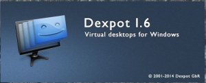 Dexpot customizes multiple Virtual desktops for window