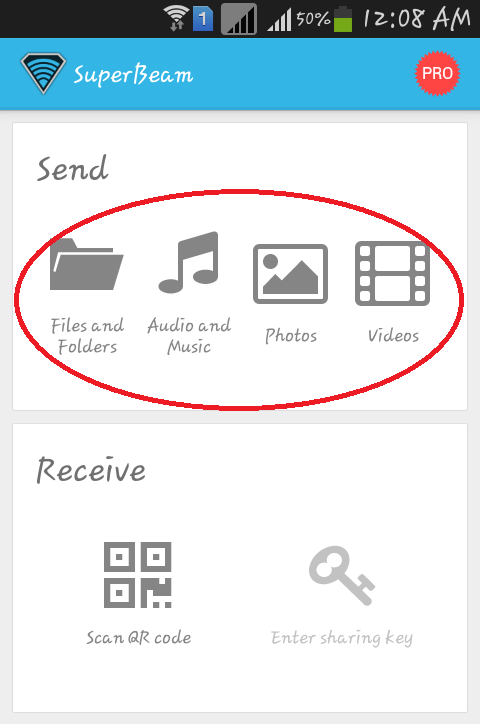 download-Super-beam-android-application-from-google-playstore-to-share-audio-video-music-files-folders-among-android-device