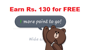 Earn free recharge for Smartphone using LINE app
