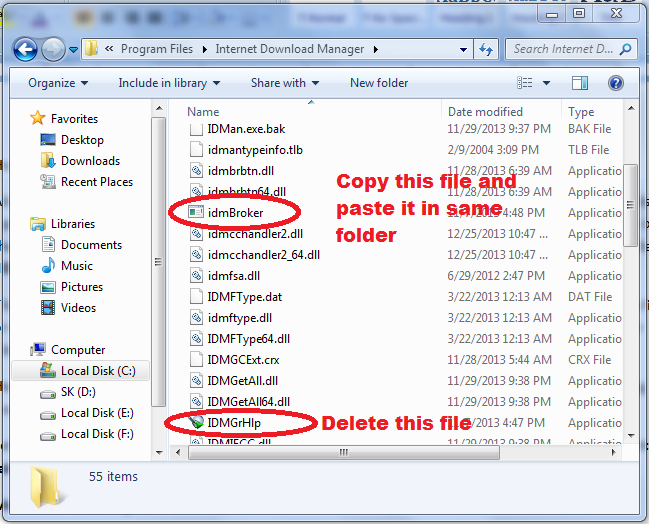copy-idmBroker-exe-file-and-delete-IDMGrHlp-exe-to-resolve-IDM-has-been-registered-with-fake-serail-number-pop-up