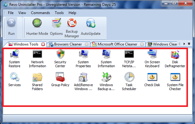 list-window-tools-using-revo-uninstaller-pro