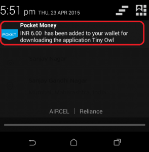 Earn-free-recharge-for-your-mobile-using-POCKET-MONEY-android-application-credited-free-recharge