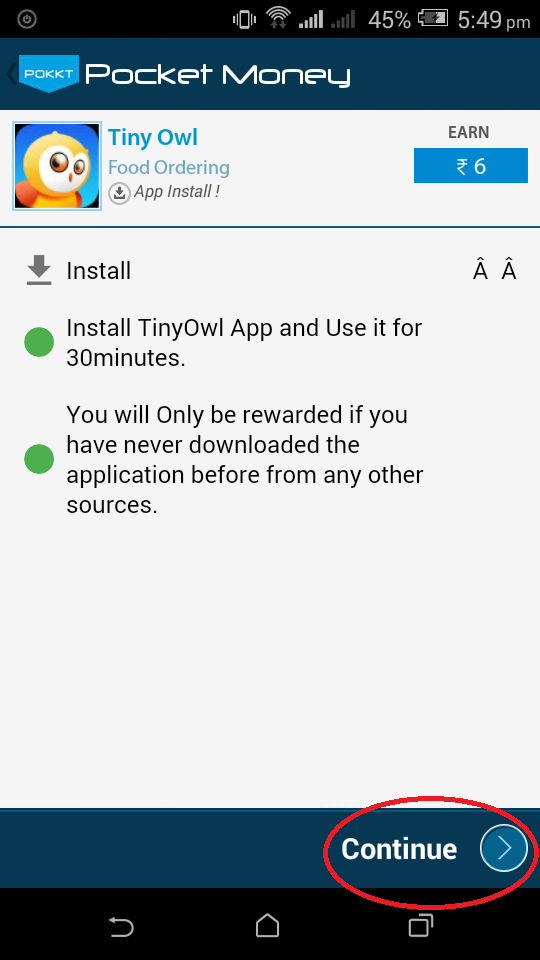 Earn-free-recharge-for-your-mobile-using-POCKET-MONEY-android-application-tiny-owl
