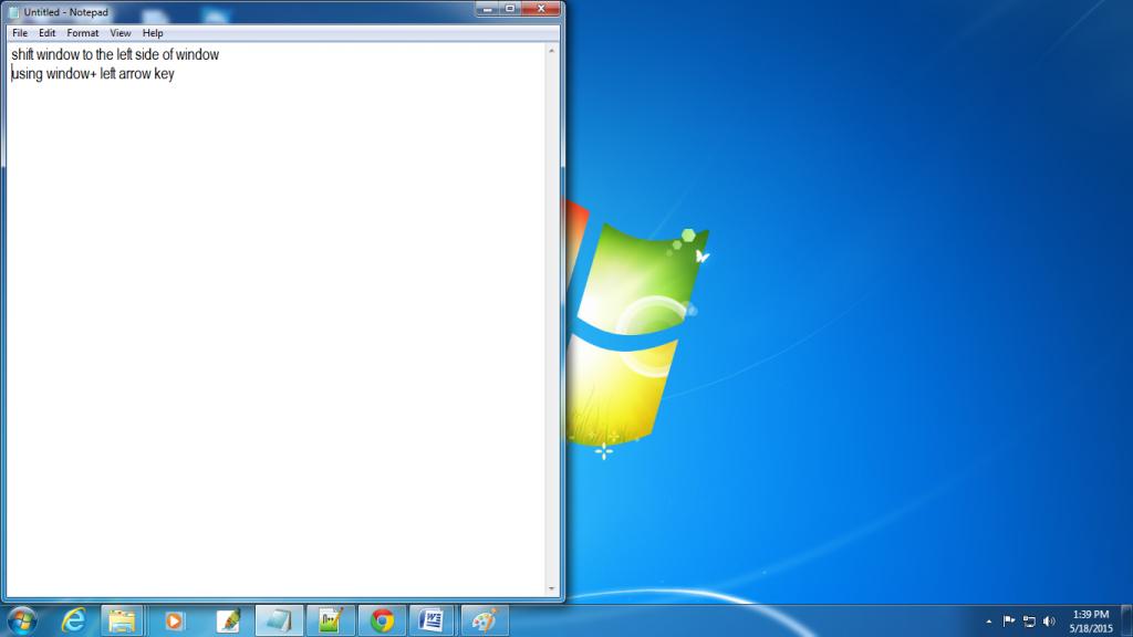 window-left-arrow-key-to-shift-to-left-shortcut-in-window-7