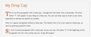my-drop-cap-wordpress-plugin-beautify-blog-post