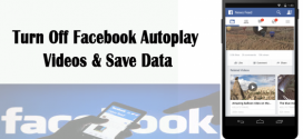 Reduce mobile data usage by disabling auto play FACEBOOK video
