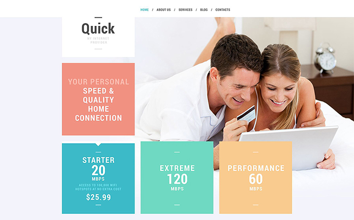Internet Services WordPress Theme