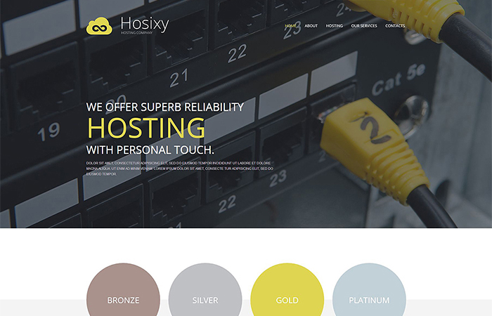 Hosting WP Template