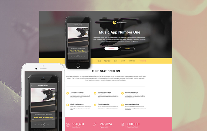 Tune Station WordPress Theme